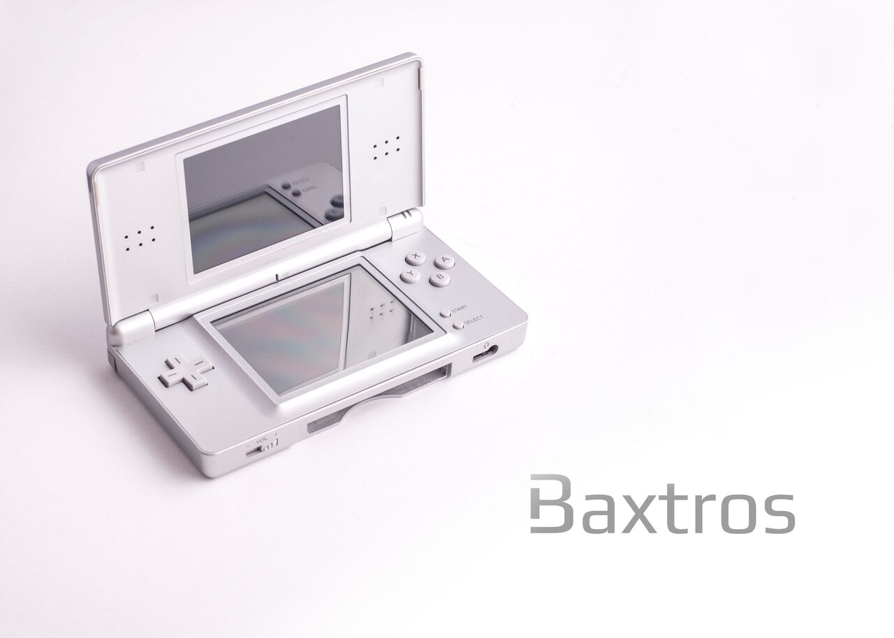 nintendo ds lite silver handheld console baxtros. Black Bedroom Furniture Sets. Home Design Ideas