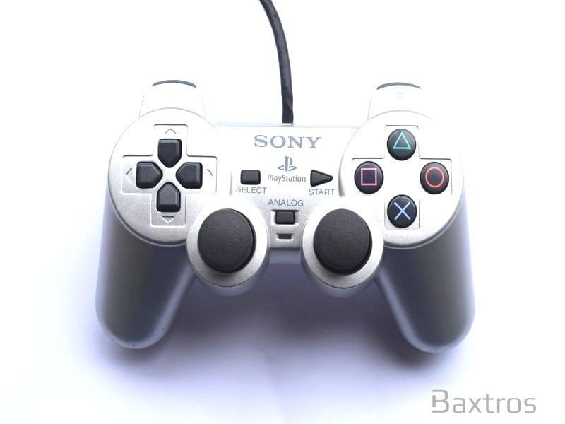PS2 Official Dual Shock 2 Controller Silver | PS2 Controller