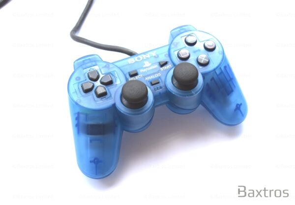 PS2 Originall Dual Shock 2 Dual Shock Two Controller Play station Playstation 2 Controller Retro Blue