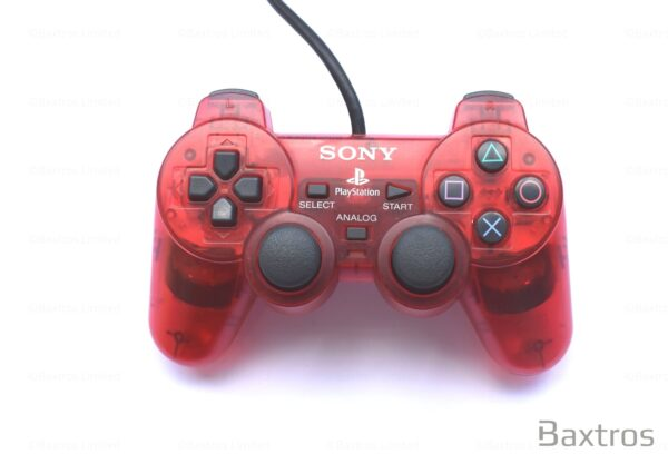 PS2 Originall Dual Shock 2 Dual Shock Two Controller Play station Playstation 2 Controller Retro Red