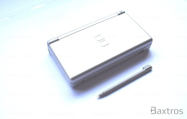 Nintendo DS Lite Hand Held Gaming Console Including Stylus and Charging Cable Plug Silver