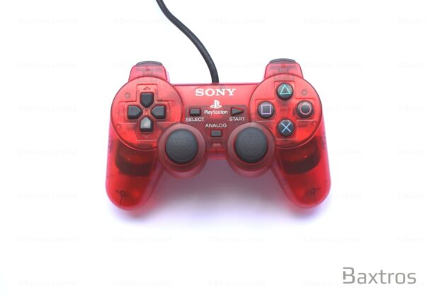 PS2 Original Dual Shock 2 Dual Shock Two Controller Play station Playstation 2 Controller Retro Red