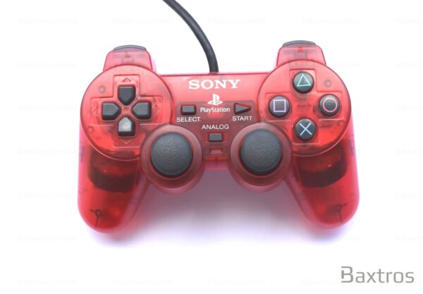 PS1 Original Dual Shock 1 Dual Shock One Controller Play station Playstation One Controller Retro Red