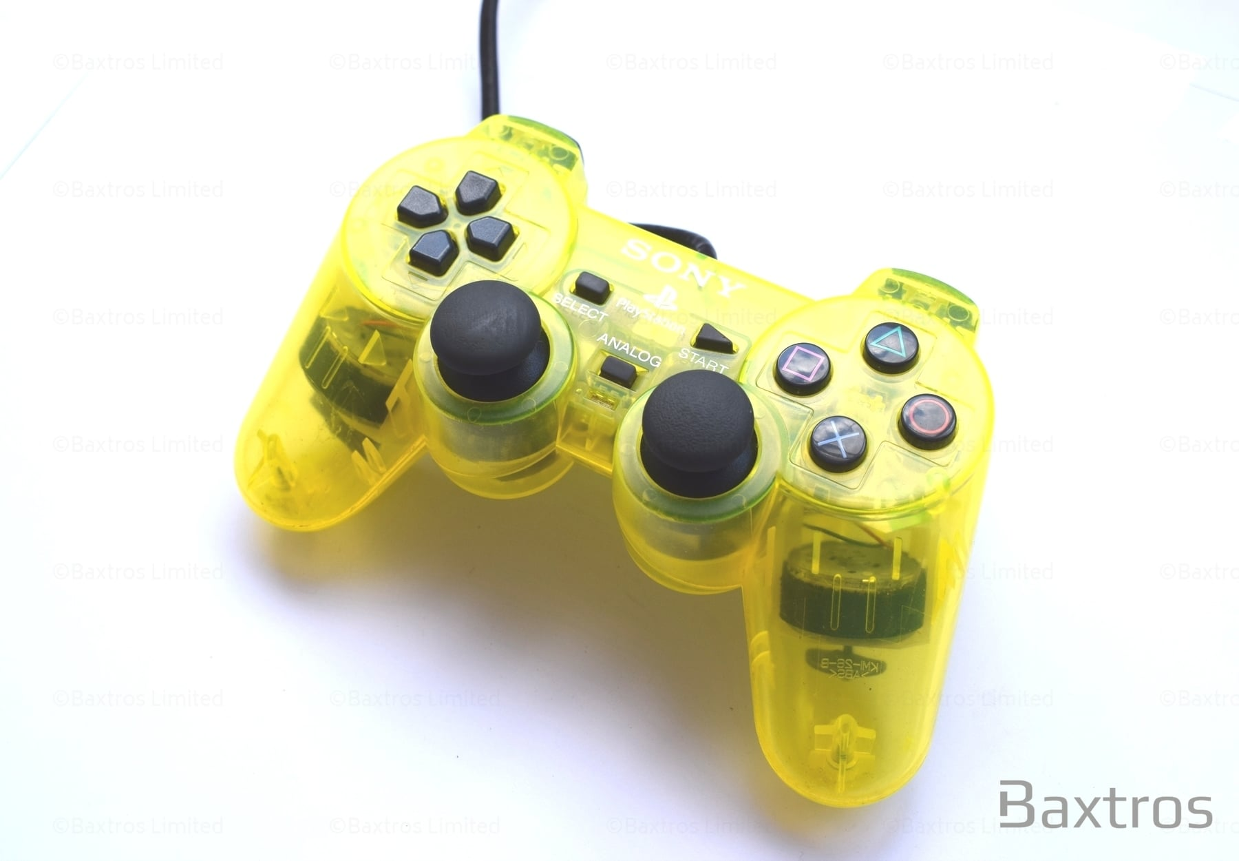 PS2 Official Dual Shock 2 Controller Yellow | PS2 Controller