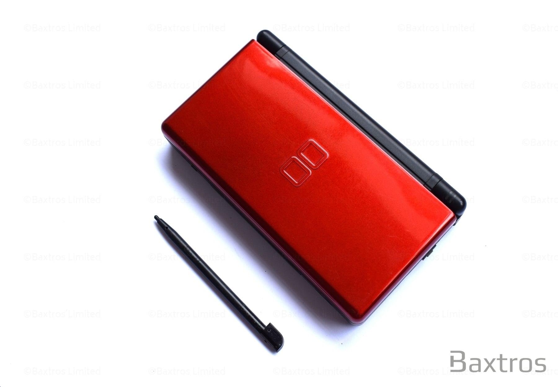 nintendo ds lite crimson red handheld console baxtros. Black Bedroom Furniture Sets. Home Design Ideas