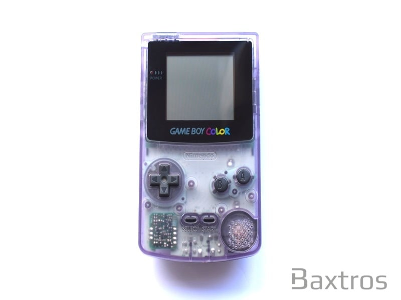 Nintendo Game Boy Color Clear Light Purple Hand Held Console
