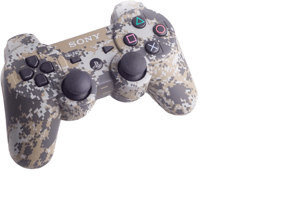 PS3 camouflage controller to buy online | retro gaming from Baxtros
