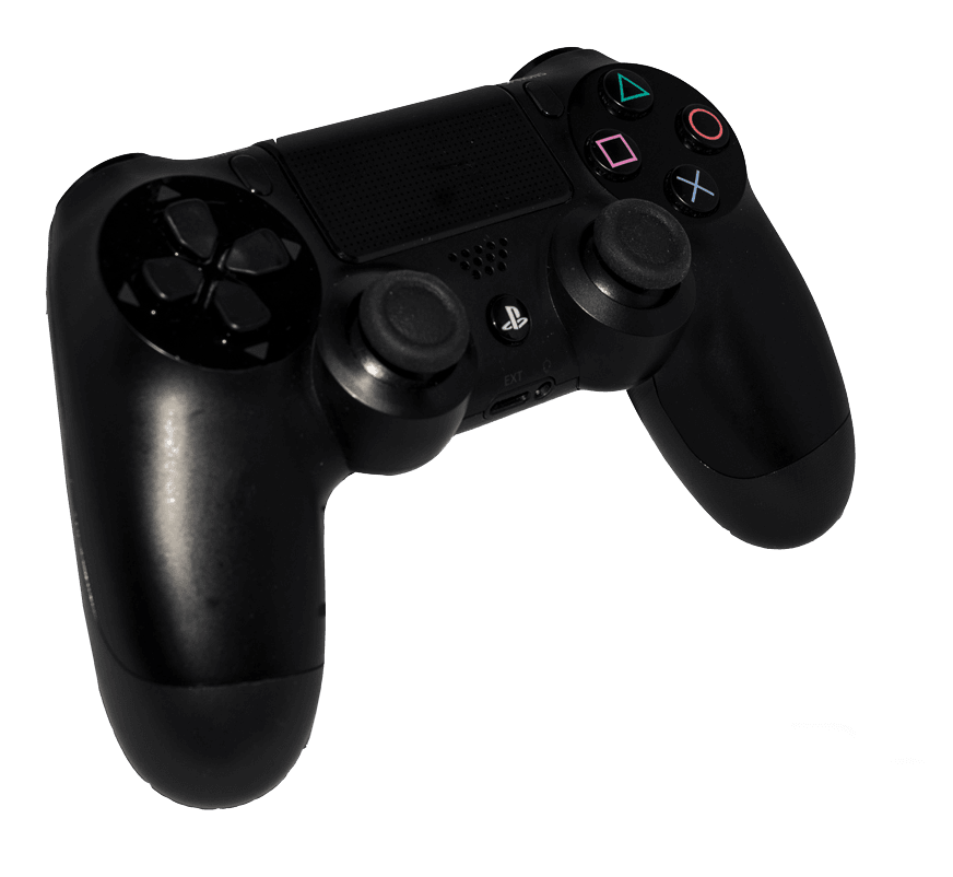 PS4 black controller to buy online | retro gaming from Baxtros