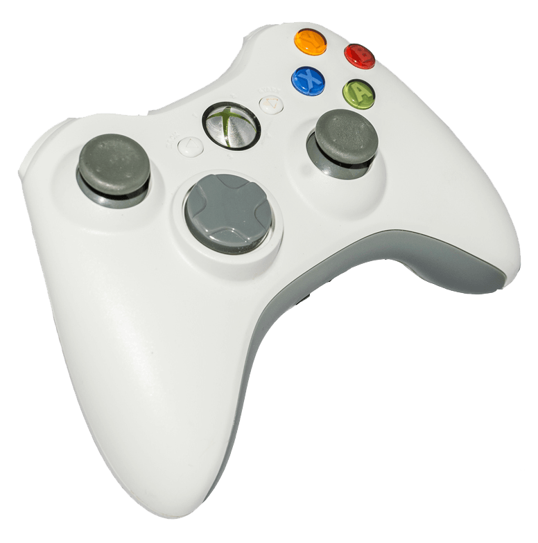 White Xbox 360 controller to buy online | retro gaming from Baxtros