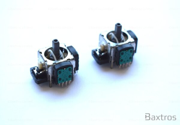 Replacement x2 4 Pin Analog Joy Stick Replacement Analogue Sticks for Sony PS3 Controller 4 pin 4 sticks 4 point circuit board attachment