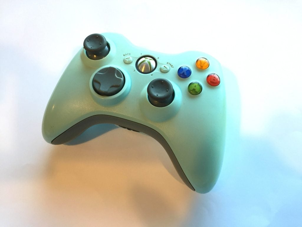 Official Microsoft Xbox 360 Wireless Controller Light Blue | Baxtros