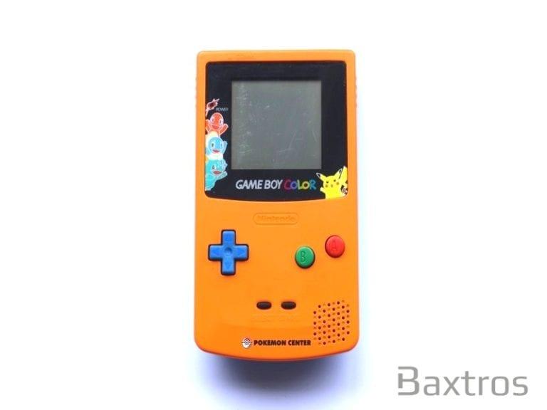 Nintendo Gameboy Color Pokemon Centre Orange 3rd Anniversary Edition (c) Baxtros Limited
