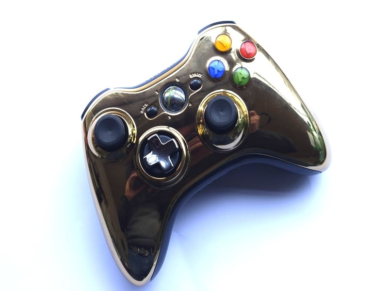 Official Microsoft Xbox 360 Wireless Controller Chrome