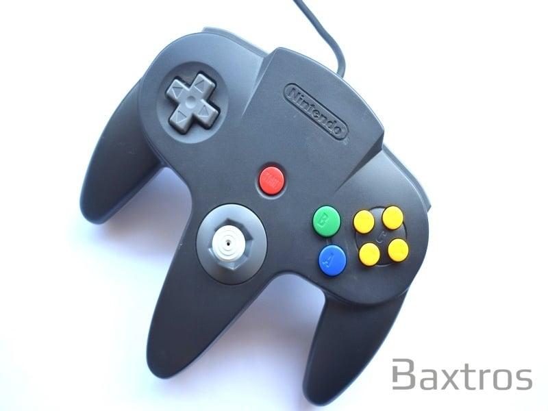 Official Original Nintendo N64 Controller Black | Baxtros