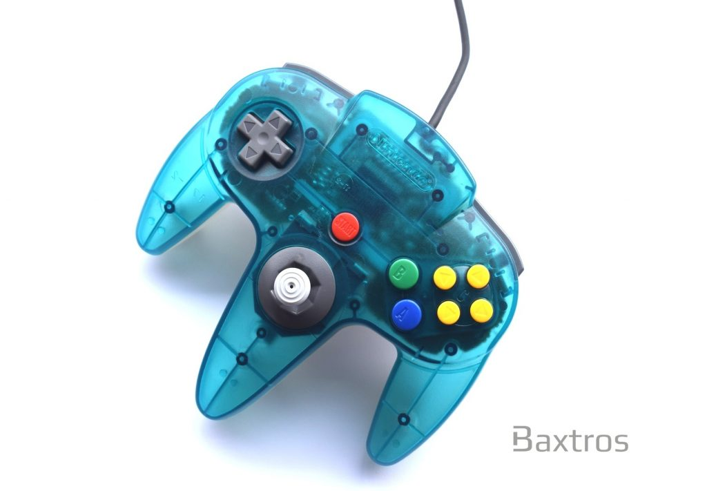 Official Original Nintendo N64 Controller Transparent Blue | Baxtros
