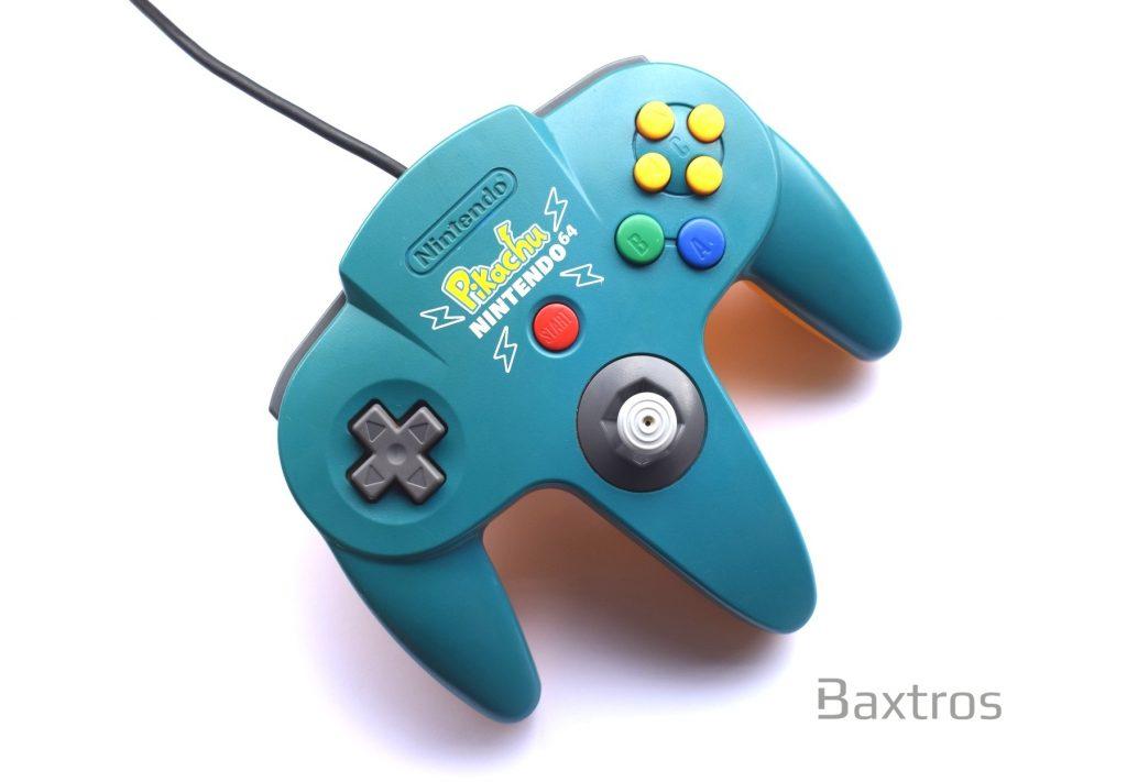 Official Original Nintendo N64 Controller Pikachu Edition | Baxtros