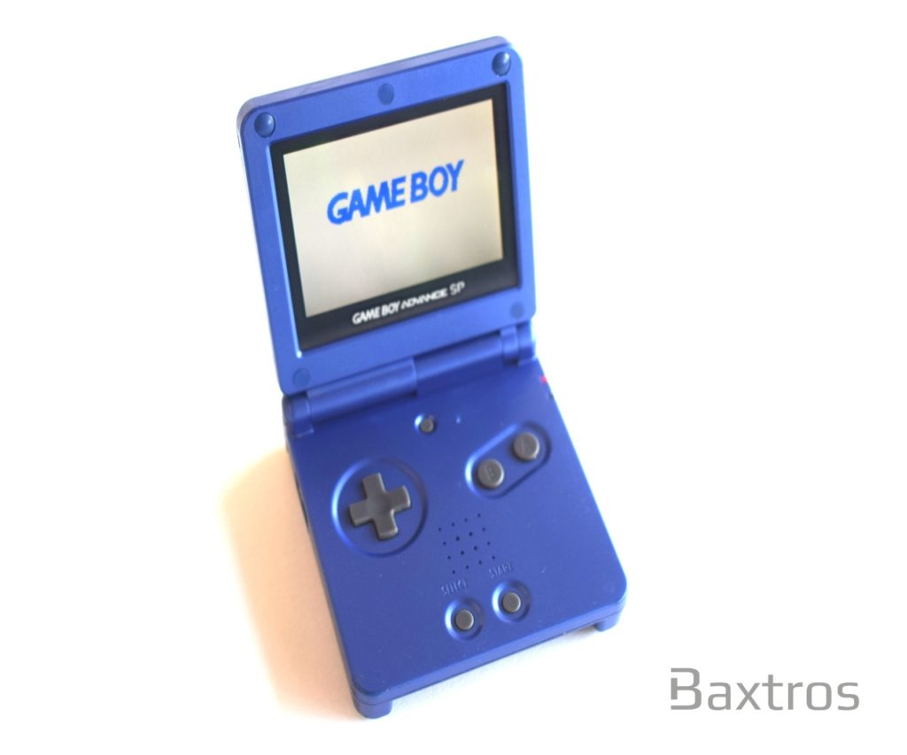 Nintendo Gameboy Advance Gba Sp Backlit Console Blue Ags 101