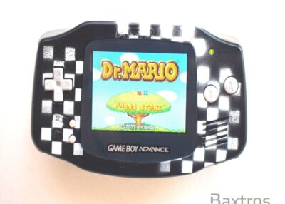 Nintendo Gameboy Advance GBA Backlit Console Backlight AGS 101 Screen Chequers (c) Baxtros Limited