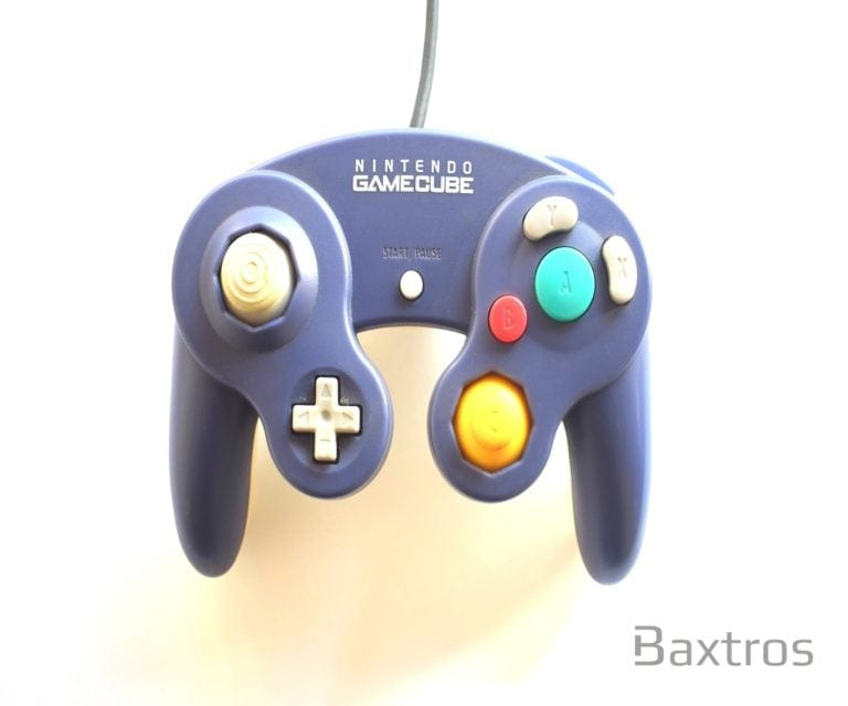 Nintendo Game Cube Controller Purple Transparent