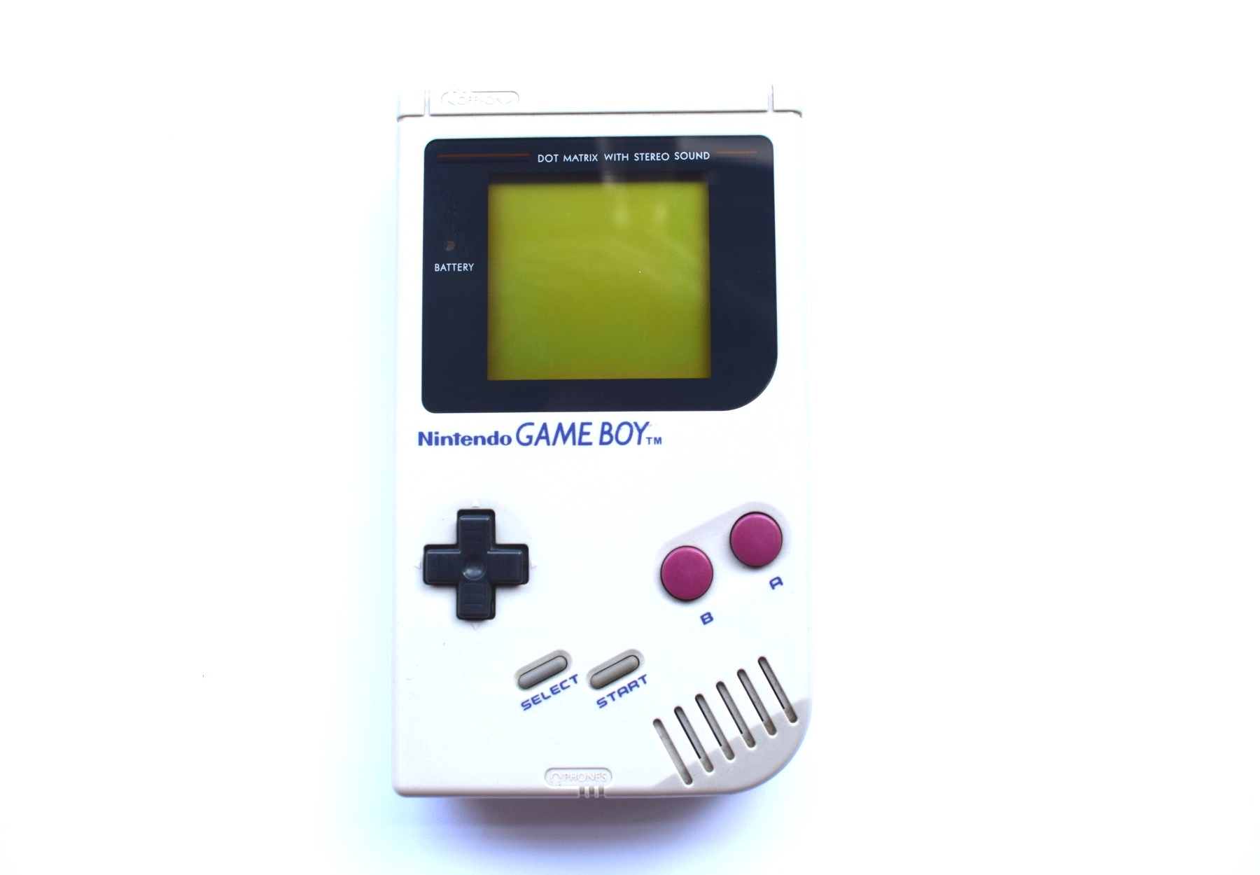 Gameboy Original DMG Backlit Console Grey + Bivert