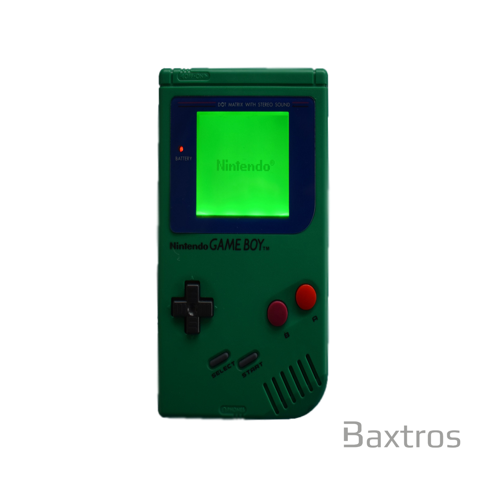 Gameboy Original DMG Backlit Console Green + Bivert
