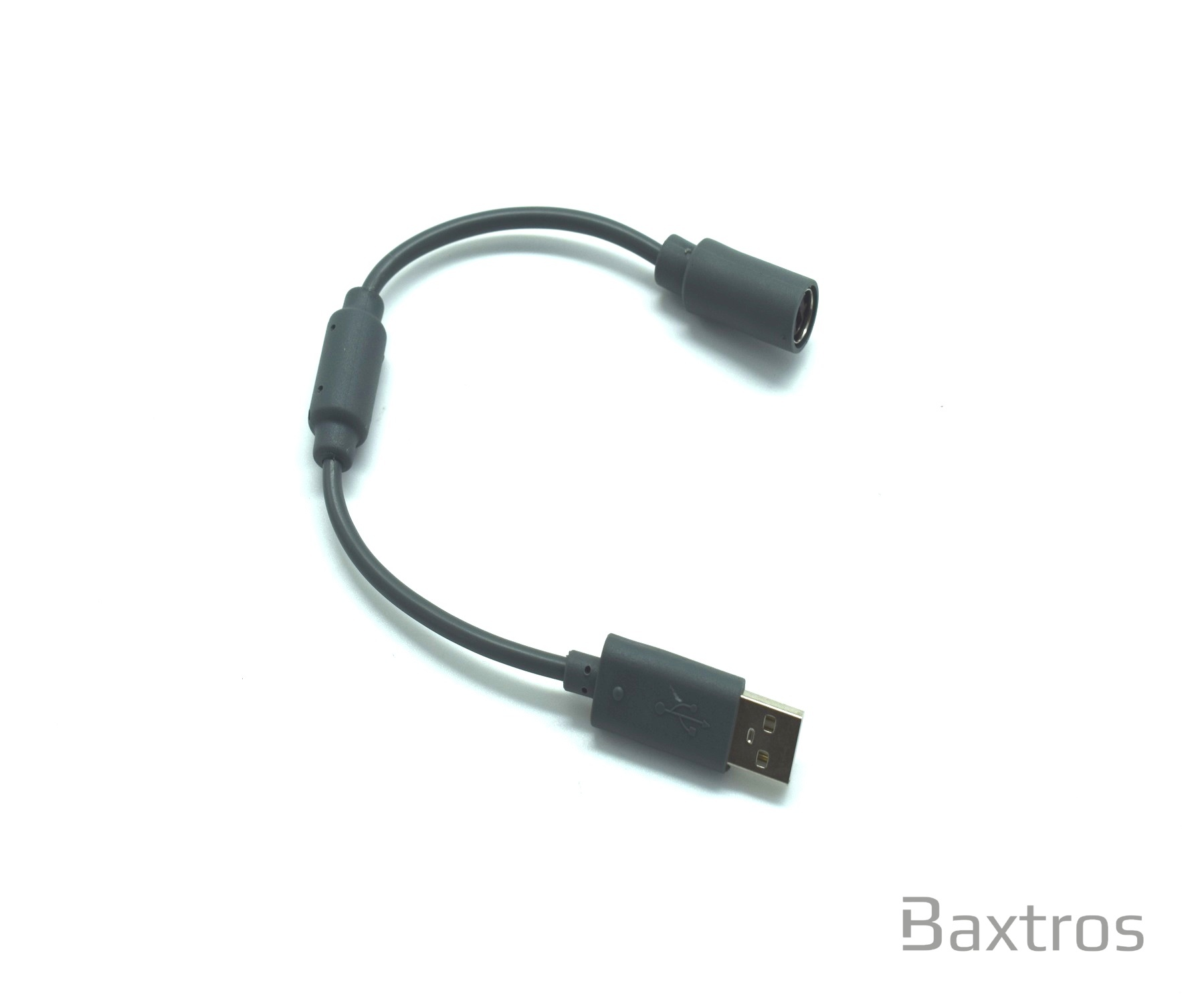 Breakaway Usb Slim Grey Cable Adapter For Microsoft Xbox 360 Wired